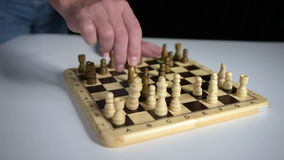Chess game stock footage