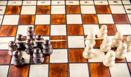Chess game war Royalty Free Stock Photos