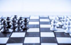 Chess game war Stock Image