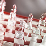 Chess game in warm red Royalty Free Stock Photos