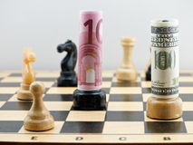 Free Chess Game With Money Royalty Free Stock Images - 17260489