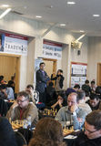 Chess games room. Playing chess tournament Gibraltar Tradewise Festival in January and February 2015. It is an editorial image  in vertical Stock Image