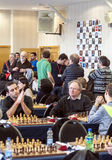 Chess games room Stock Photography
