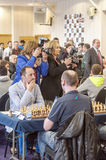 Chess games room Royalty Free Stock Image