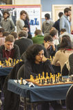 Chess games room Stock Image