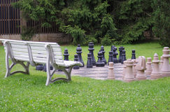 Chess in the garden Stock Image