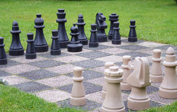 Chess in the garden Royalty Free Stock Photo