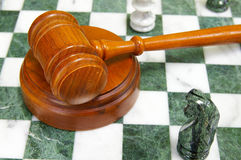 Chess gavel Stock Images