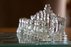 Chess glass start up game for your business competition Stock Photography