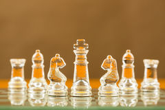 Chess glass start up game for your business competition Royalty Free Stock Image