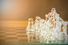 Chess glass start up game Stock Images