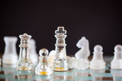 Chess glass start up game Royalty Free Stock Images