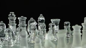 Chess From Glass stock footage