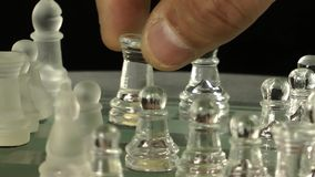 Chess From Glass stock video