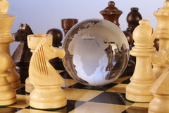 Chess and globe Royalty Free Stock Photos