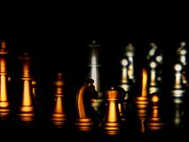 Chess. Gold silver chess Royalty Free Stock Photos