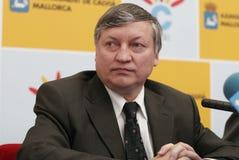 Chess grandmaster Anatoly Karpov Royalty Free Stock Photos