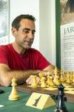 Chess grandmaster. Tomas Guardia Bencomo, chess grandmaster playing a tournament in Granada Spain, is an editorial image vertically Stock Photos