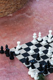 Chess great outdoors Stock Images