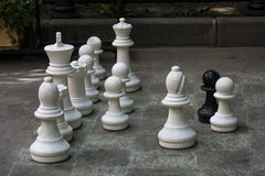 Chess on the ground Stock Photo
