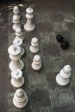 Chess on the ground Stock Image