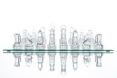 Chess group transparent glass blur silhouette team challenge Royalty Free Stock Image