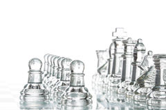 Chess group transparent glass blur silhouette team challenge Stock Photo