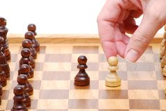 Chess Hand Royalty Free Stock Images