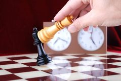 CHESS AND HAND Royalty Free Stock Images
