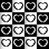 Chess hearts seamless background Royalty Free Stock Photography