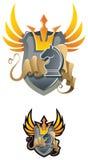 Chess heraldic emblem Stock Image