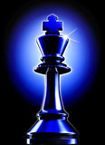 Chess. High resolution rendering of an chess king Stock Photos