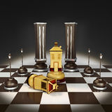 Chess from homes 3D illustration Stock Photography