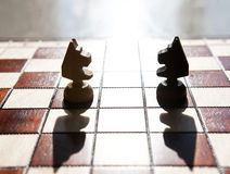 Chess horse on a board Royalty Free Stock Photography
