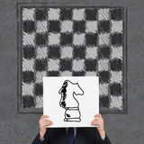 Chess horse Stock Images