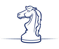 Chess horse icon Royalty Free Stock Photos
