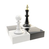Chess icon illustration of pawn and king Stock Photography