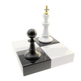 Chess icon illustration of pawn and king Stock Photos