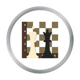 Chess icon in pattern. Stock vector Royalty Free Stock Images