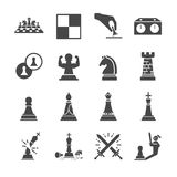 Chess icon set Royalty Free Stock Images