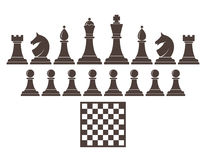 Chess. Icon set. Vector illustration Stock Photo