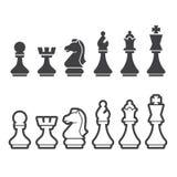Chess icon. Web icon illustration design vector Royalty Free Stock Photo