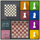 Chess icons,  illustration. Stock Photography