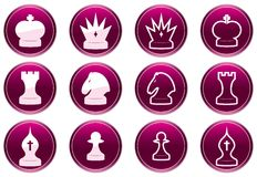 Chess icons set. Royalty Free Stock Photography
