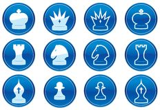 Chess icons set. Stock Photography