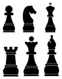 Chess icons set Stock Photography