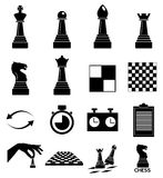 Chess icons set Stock Photo