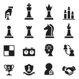 Chess icons set Vector illustration. Stock Photos