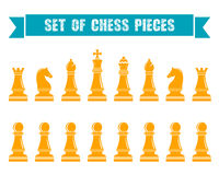 Chess icons. Vector Illustration. Icons of chess. Chess pieces on a white isolated background. Vector illustration Royalty Free Stock Photo