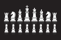 Chess icons. Vector Illustration. Stock Photos